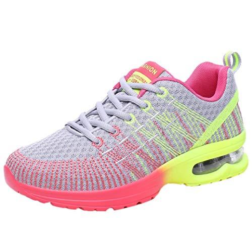 Damen Schuhe Elegant Winter Sneaker LHWY Frau Mode Laufschuhe Atmungsaktiv Bequeme Athletische Sportschuhe Outdoor Wanderschuhe Rutschfest Turnschuhe (39, Gray)