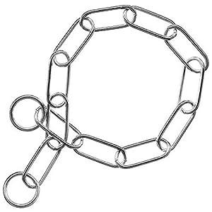 Vivog Collier Chaine étrangleur Chien INOX Haute qualité Idéal Dressage maillons de 3mm