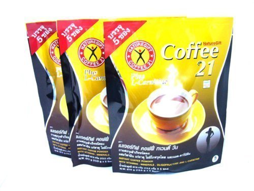 3x Naturegift Instant Coffee Mix 21 Plus L-carnitine Slimming Weight Loss Diet (5 sachets/pack)Made in Thailand... by USA