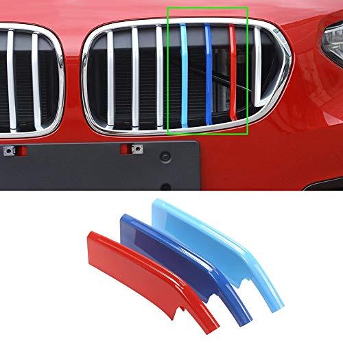 car-styling ABS Chrom Außen Dekor Front Grill Trim Zubehör Sport Streifen Nieren Embleme für 1Serie 118i 120i 125i F522017