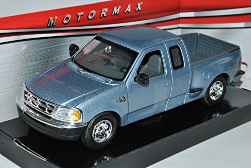 Ford F-150 XLT Flareside Supercab Pick-Up Silber Grau 1996-2004 1/24 Motormax Modell Auto