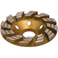 sourcing map Rueda de Taza de de molienda de 100mm de diámetro exterior de disco de corte de 12 dientes de Tono Oro