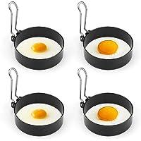 BestCool   Set di anelli antiaderenti per uova  in acciaio inox  per uova fritte e in camicia  crumpet  mini pancake e Yorkshire pudding