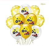 GHJIUOLHJ Ballon Partie Coloré Dessin Animé Air s Voitures Camion De Pompiers Confetti Baloons Enfants Anniversaire Décorations De Fête Enfants Bébé Douche Garçon W