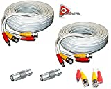 ACELEVEL 4 PACK PREMIUM 100Ft.THICK BNC EXTENSION CABLES FOR ZMODO SYSTEMS WHITE