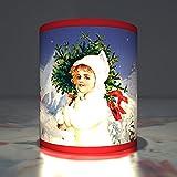 Kartenkaufrausch 5 Winterliche Weihnachts Teelichthalter - Advents Transparentlichter als Weihnachtsdeko mit Schnee Motiv, stimmungsvolle Transparentleuchten