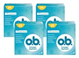 o.b. Compact Applicator Normal Tampons mit geschwungenen Rillen und...