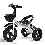 Kinder Dreirad Spielzeug Fahrrad 1-3-6 Jahre alt große Kind Auto Baby Kleinkind Fahrrad hohe Dichte Titan leeres Rad/Schaum Rad/abnehmbar (Farbe : Weiß, größe : Titanium empty wheel)