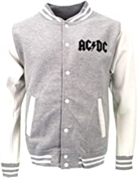 AC/DC For Those About To Rock Varsity Jacket Grey Official Licensed Music