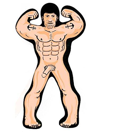 GDM manicmonkies Aufblasbar Hunk Man 32cm Blow Up Willy Mädchen Hen Night Hirsch Party Gag Neuheit (Up Blow Willy)