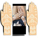 White Henna Temporary Tattoos - Sexy Tribal Jewels Henna Designs - Be the Show Stopper by Beautifying your Hands or Feet with Delicate Henna Patterns