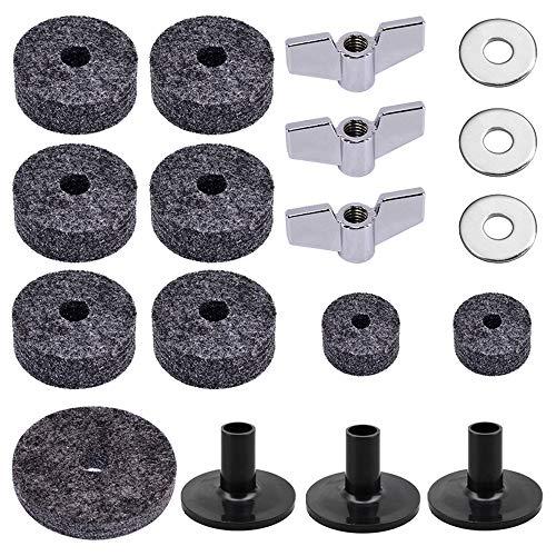 Kalaok Set di accessori per batteria da 18 pezzi Set di accessori per batteria Set di strumenti di ricambio per batteria nera