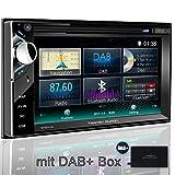 Tristan Auron BT2D7013C Autoradio mit GPS Navi + DAB Box, 6,5'' Touchscreen Bildschirm, Web-Link, Bluetooth Freisprecheinrichtung, 2X USB I SD, CD I DVD, DAB+ Lenkradsteuerung Rückfahrkamera 2 DIN