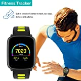 SmartwatchYAMAY-Bluetooth-Smart-Watch-Waterproof-IP68-Fitness-Tracker-Watch-with-Heart-Rate-Monitor-Pedometer-Sleep-Monitor-Stopwatch-SMS-Call-Notification-Remote-Camera-Music-for-iOS-Android-Phone