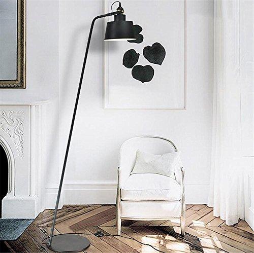 BIUODY Moderna lettura Lampada da terra in metallo Piano Black Light 220V H 165 cm x W 30 cm