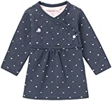 Noppies Baby-Mädchen Kleid G Dress ls Nevada-67364, Blau (Navy C166), 68