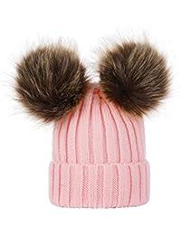 PAOLIAN Cappello Invernale di Lana di Maglia della Mamma E del Bambino 9c2c30e84087