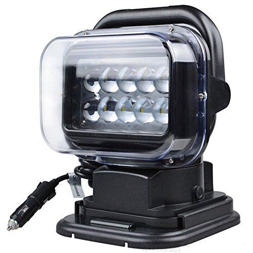 HAOHE 50W Drahtlose Fernsteuerungs-Scheinwerfer-im Freien Wasserdichte IP67 LED-Auto-Arbeits-Lichter SUV modifizierte Lichter Scheinwerfer-Schwarz-Punkt-Licht