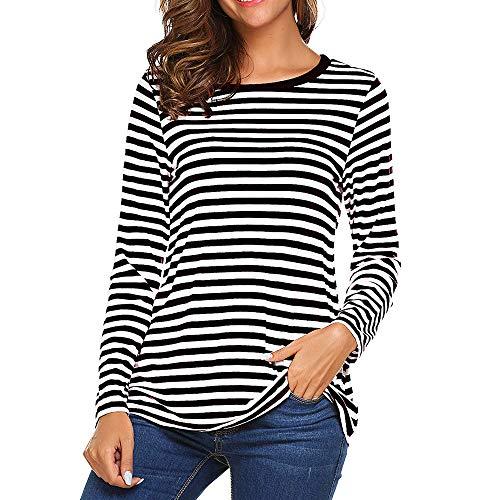 881d28ea0f0 Vectry Camiseta Larga Mujer Camiseta Rayas Negras Y Blancas Camiseta Mujer  Manga.