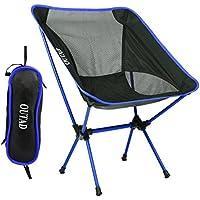 Ultraligero para trabajo pesado plegable asiento de la silla, silla de máxima capacidad de carga portátil compacto con tejido de la bolsa, para acampar al aire libre Pesca picnic en la playa Actividades de senderismo