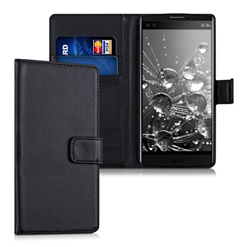 kwmobile LG V10 Hülle - Kunstleder Wallet Case für LG V10 mit Kartenfächern und Stand