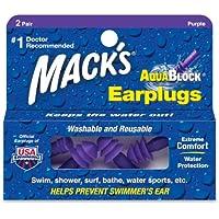 Macks Earplugs Aquablock Soft Silicone 2pairs