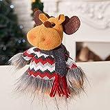 TAOtTAO Niedlicher Weihnachtsmann Bow Bell Weihnachtsbaum Ornament Dekoration hölzerne Schneemann Elch (D) (C)