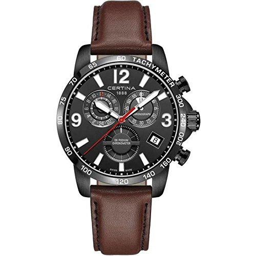 Certina DS Podium GMT Herren-Armbanduhr 42mm Leder Batterie C034.654.36.057.00