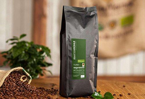 BIO Espresso Peru Tunki von der Kaffeerösterei Martermühle: Ganze Bohnen - Schonend geröstet & Säurearm.