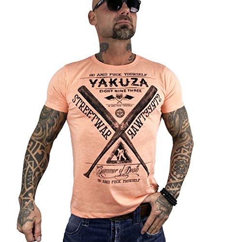 Yakuza Original Herren Streetwar T-Shirt papaya punch