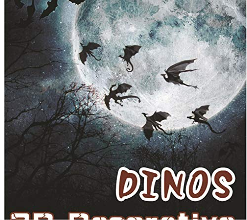 KUANGJING Abnehmbare 7 Teile/Satz Fantasie Halloween Spaß Wandaufkleber für Kinderzimmer Dekoration Dinosaurier Junge Geschenk 3D Drachen Wandkunst Drachen Silhouette
