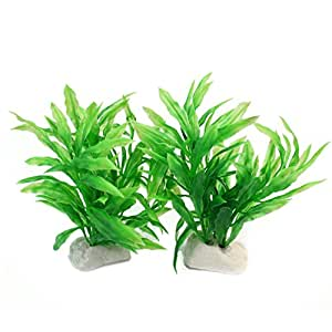 2x k nstliche wasserpflanzen aquarium deko pflanzen. Black Bedroom Furniture Sets. Home Design Ideas