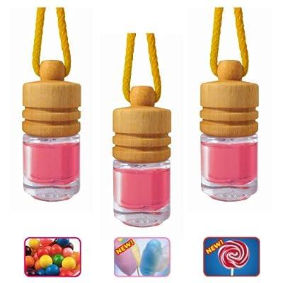 Parfum Mix Jolie Trio 3Flacons-1x Bubblegum Lollipop Papa a 4,5ml Parfum Voiture