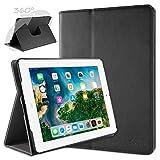 doupi Rotatif Housse pour iPad 2 3 4, Deluxe 360 Degrés Smart Coque de Protection Simili Cuir Coque Cover et Case, Noir
