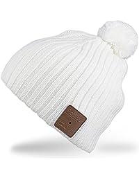 Rotibox Cappello con cuffia bluetooth integrata senza fili - Bianco 46d0cf947847