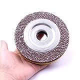 atoplee 130~ 150mm grano 60# Diámetro de solapa de abrasivos rueda de papel de lija para moler pulido [60#, 1pc]