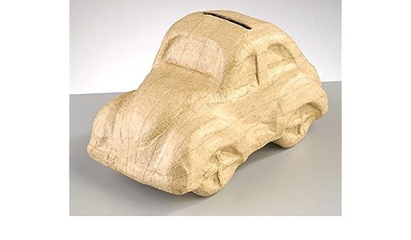 Paper Mache Car Money Box to Decorate 16.5x8.5x9cmPapier Mache Boxes