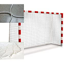 ¡OFERTA! Par de Redes de balonmano / fútbol sala nylon trenzado 4 mm. Serie profesional