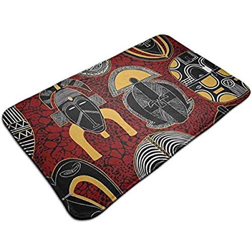 a97525cc4a9d0 Yushangmao Mask African Motifs Crazy.jpg Waterproof Welcome Doormat Funny  Durable Machine Indoor And Outdoor Door Mat 23.6