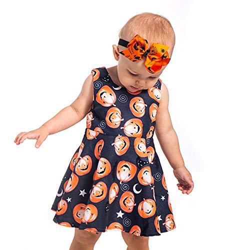 (OHQ Kinder Baby Mädchen Halloween Kürbis Cartoon Prinzessin Kleid Outfits Kleidung Prinzessin Kleid Grimms Märchen Kostüm Cosplay Mädchen Halloween Kostüm)