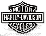 ADESIVI 3D STEMMA LOGO SERBATOIO compatibile MOTO HARLEY DAVIDSON 95x70 Argento