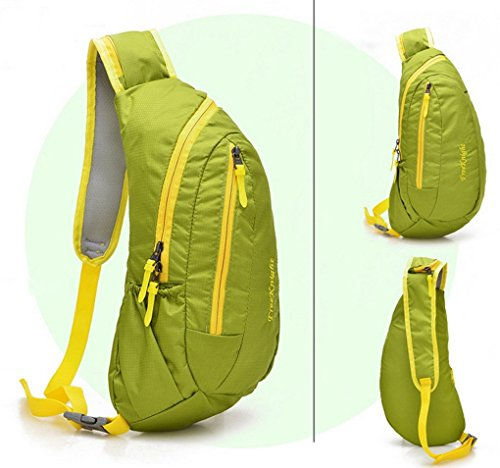 Panegy unisex sport outdoor petto borsa cerniera impermeabile petto bag Haversack, Green Green
