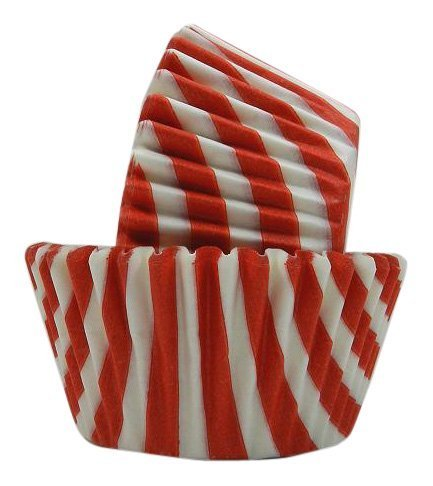 Regency Wraps Greaseproof Baking Cups, Red and White Stripes, 40-Count, Standard. by Regency Wraps, Inc. Stripes Standard Baking Cups