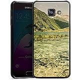 Samsung Galaxy A3 (2016) Housse Étui Protection Coque Paysage alpin Fleuve Forêt