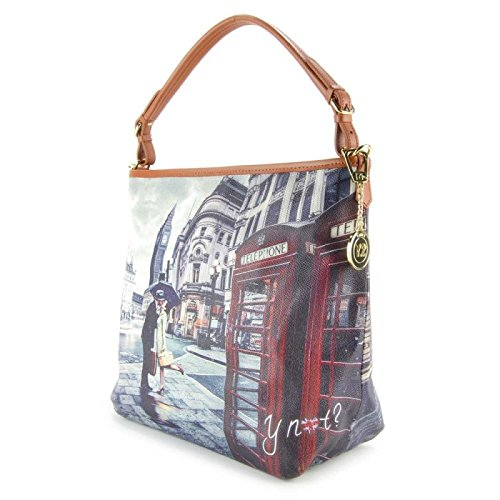 Borsa a spalla con tracolla Y Not - G349 Romantic London