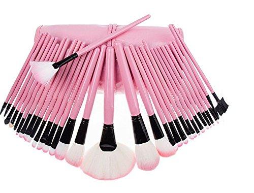 MuSheng(TM) sac sac cas supérieur 32pcs brosse douce rose cosmétiques trousse maquillage