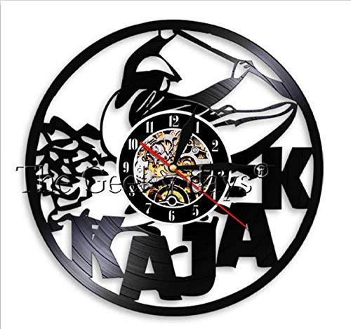 ClockGH Kayaking Time Kayak WAL Clock Paddling Vintage Vinyl Record Reloj de Pared Rafting Decoración de Pared Diseño Moderno Regalos Deportivos para kayakistas