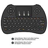 [Layout ITALIANO] Aerb 2.4Ghz Mini Tastiera Senza Fili con Touchpad per Smart TV, PC, Pad, Xbox 360, PS3, Google Android TV Box, HTPC/IPTV - Nero