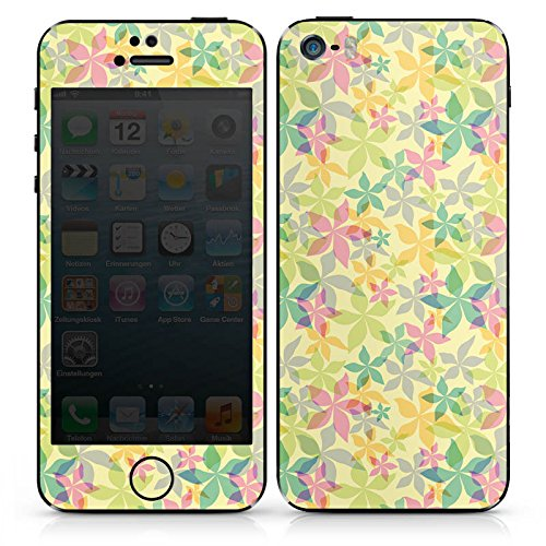 Apple iPhone SE Case Skin Sticker aus Vinyl-Folie Aufkleber Frühling Bunt Muster DesignSkins® glänzend