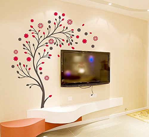 Decals Design 'Beautiful Magic Tree with Flowers' Wall Sticker (PVC Vinyl, 50...